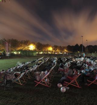 A big screen under the stars; the Villette Outdoor Film Festival