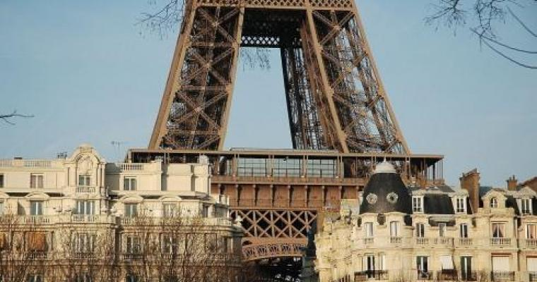 The Eiffel Tower; architectural symbol of Paris